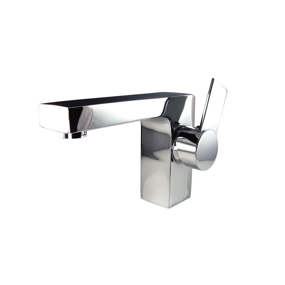 Fresca Isarus Single Hole 1-Handle Low-Arc Bathroom Faucet in Chrome