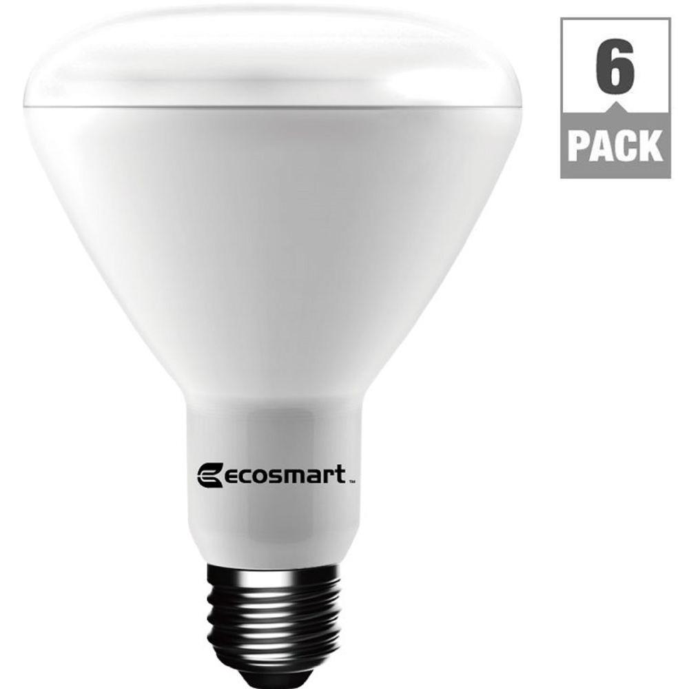 EcoSmart 65W Equivalent Soft White BR30 Dimmable LED Light Bulb