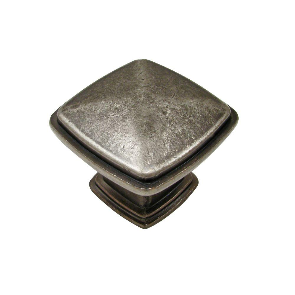 Richelieu Hardware 1-1/8 in. Pewter Cabinet Knob-BP81091142 - The Home Depot