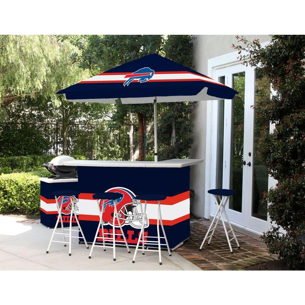Buffalo Bills All-Weather Patio Bar Set with 6 ft. Umbrella