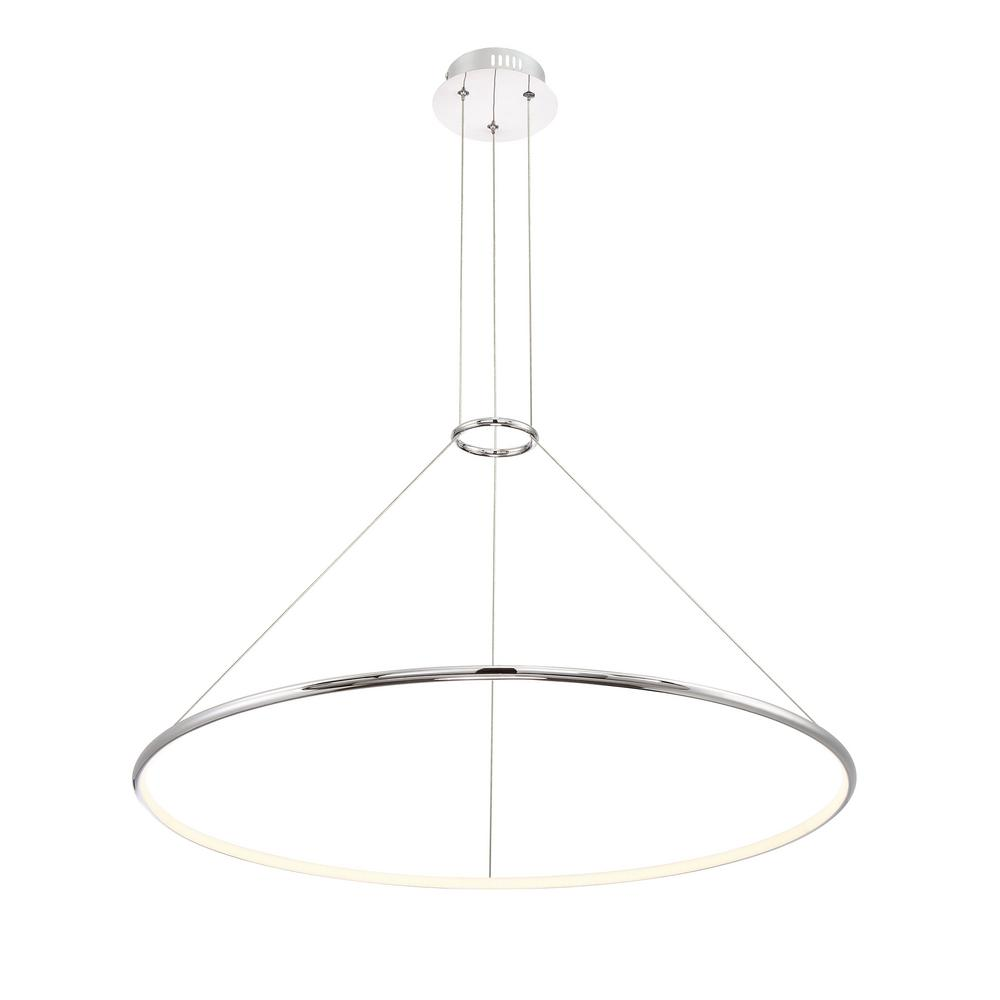Valley Collection 30-Watt Chrome Integrated LED Large Pendant