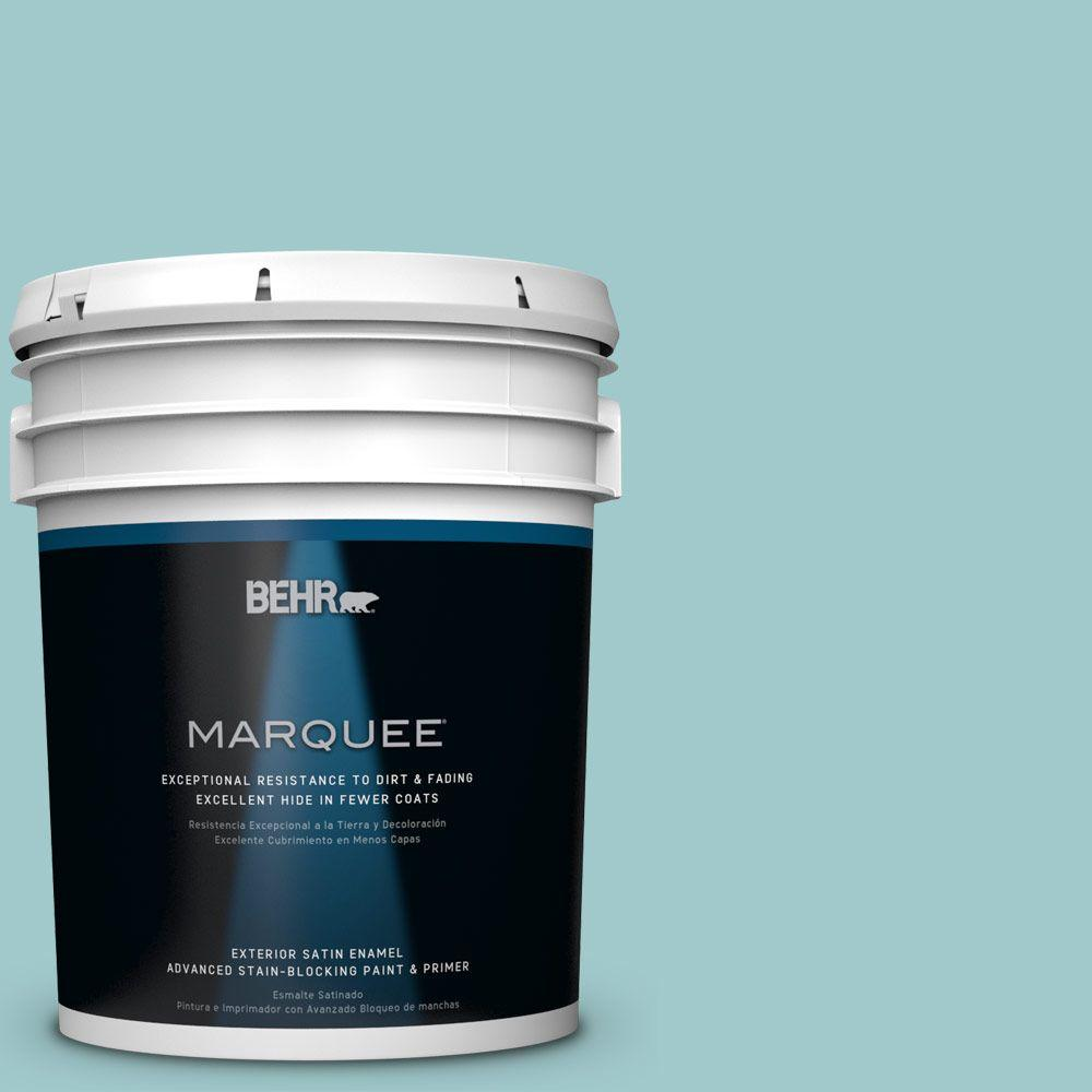 BEHR MARQUEE 5 gal. #HDC-SP16-08 Blue Bell Satin Enamel Exterior Paint-945005