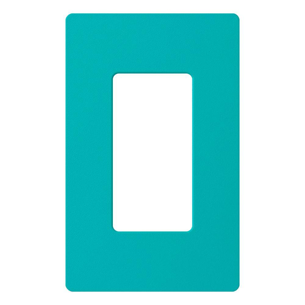 Claro 1 Gang Decora Wall Plate - Turquoise