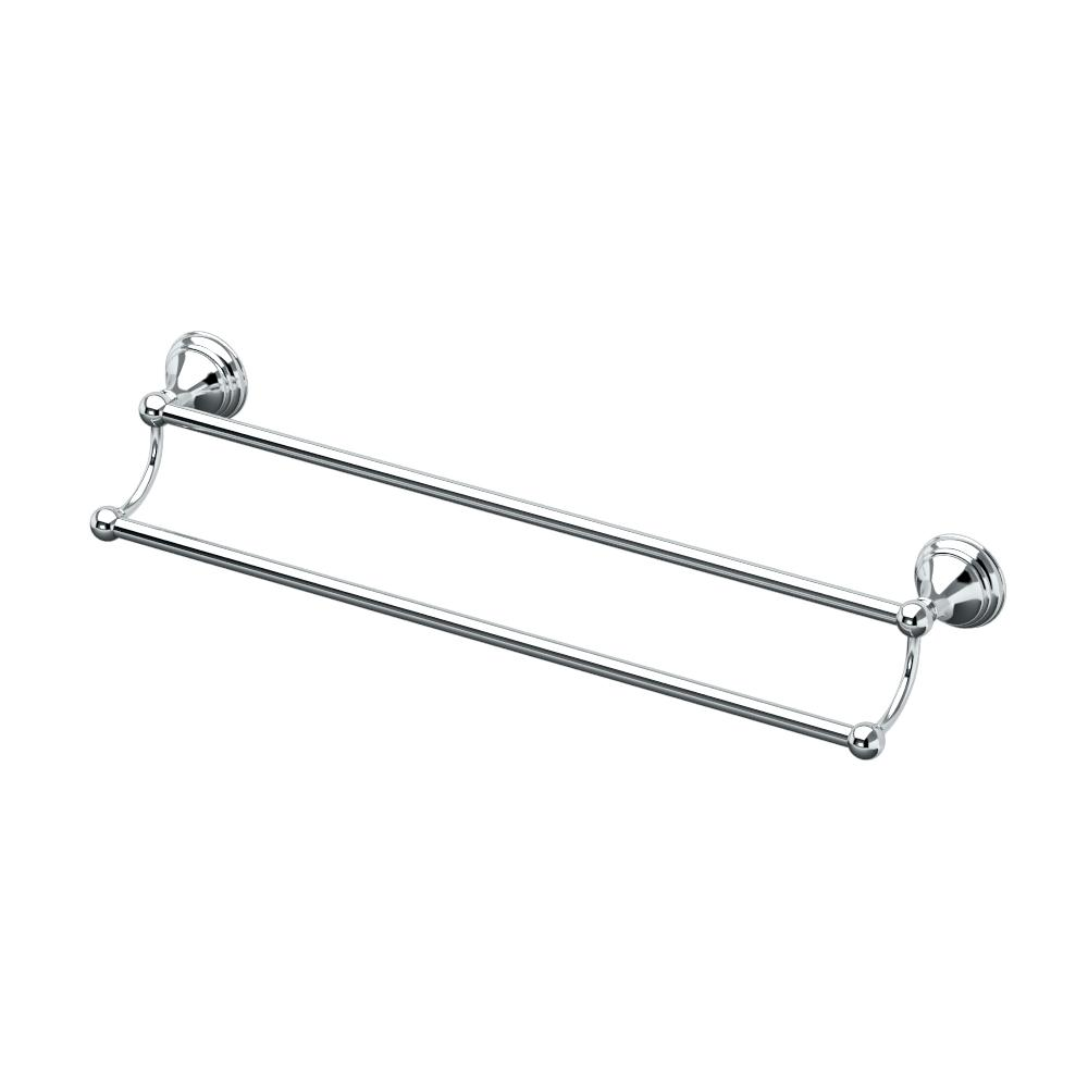Charlotte 24 in. Double Towel Bar in Chrome