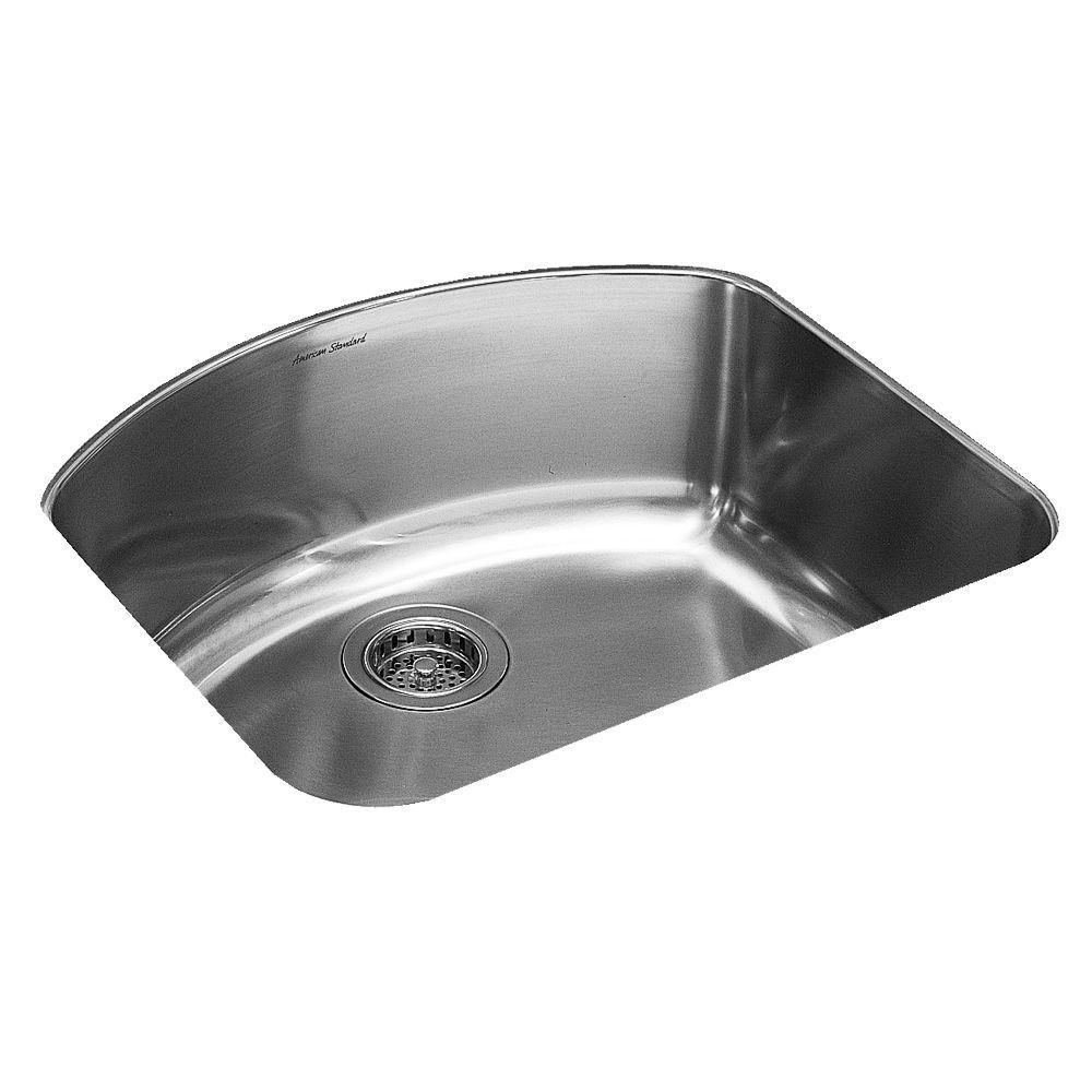 American Standard Culinaire Undermount Stainless Steel 23.625x21.125x8.625 0-Hole Single Bowl Kitchen Sink-DISCONTINUED