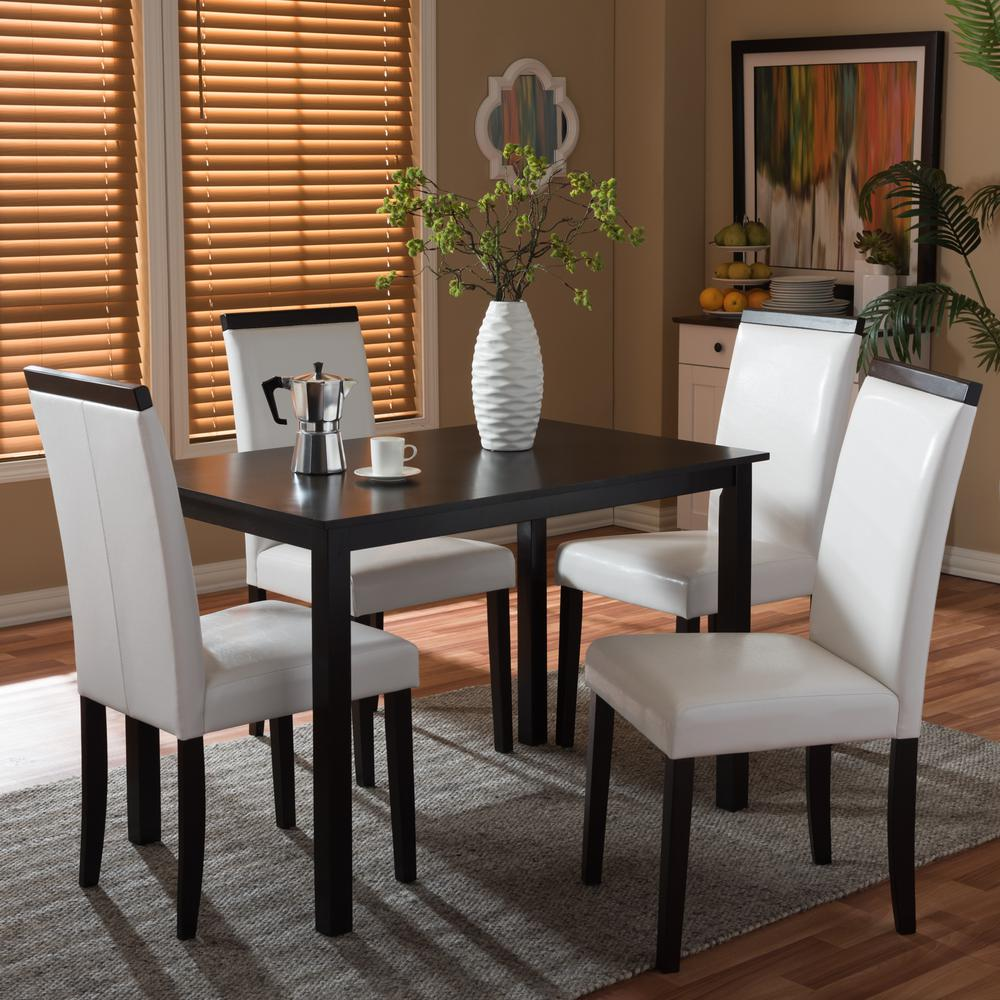 Baxton Studio Jet 27.63 in. L Dining Table in Dark Brown-28862-5328-HD