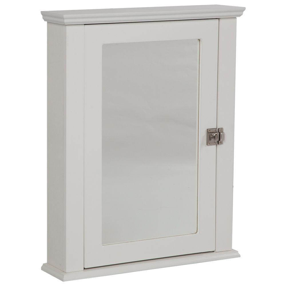 Home Decorators Collection Lamport 22 in. x 27 in. Surface-Mount Medicine Cabinet in White