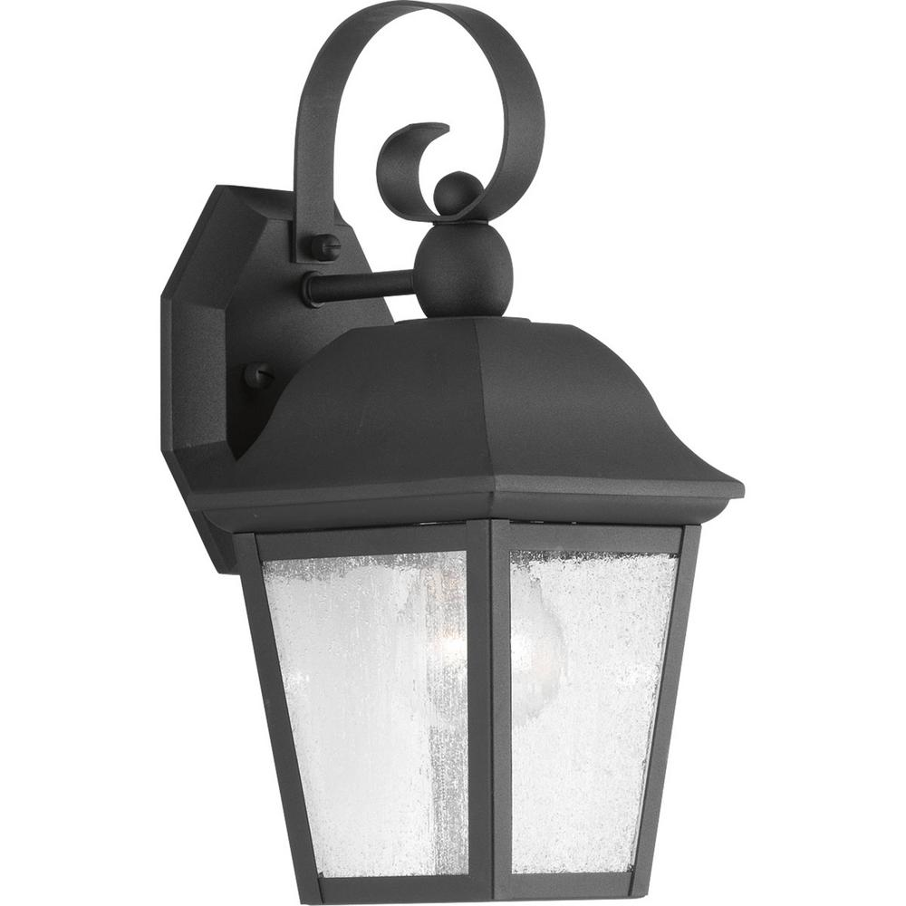 Kiawah Collection 1 -Light Outdoor Black Sconce