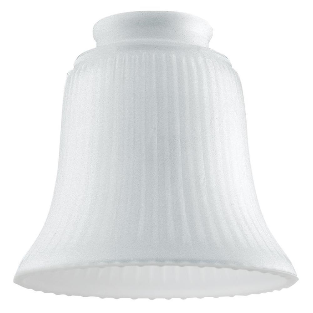 Westinghouse 4-1/2 in. Frosted Ribbed Bell with 2-1/4 in. Fitter and 4-3/4 in. Width