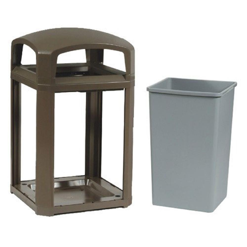 Rubbermaid Commercial Products Landmark Series 35 Gal. Domed Frame Trash Can with Rigid Liner