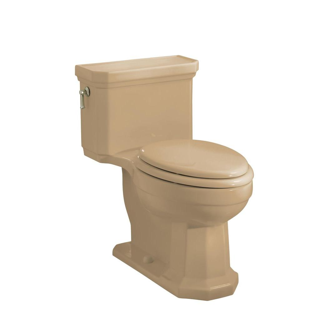 KOHLER Kathryn Comfort Height One-Piece Elongated Toilet in Mexican Sand-DISCONTINUED