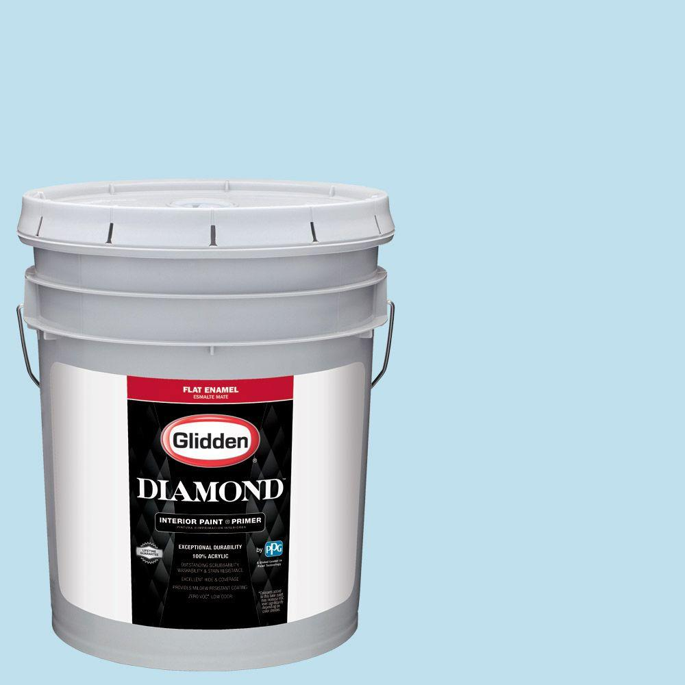 5 gal. #HDGB44 Clear Blue Sky Flat Interior Paint with Primer