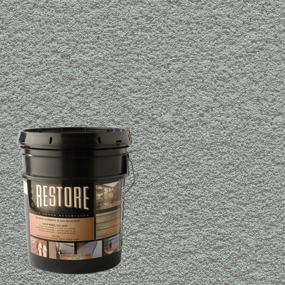 Restore Deck Liquid Armor Resurfacer 4 Gal. Water Based Cape Cod Gray Exterior Coating-DISCONTINUED