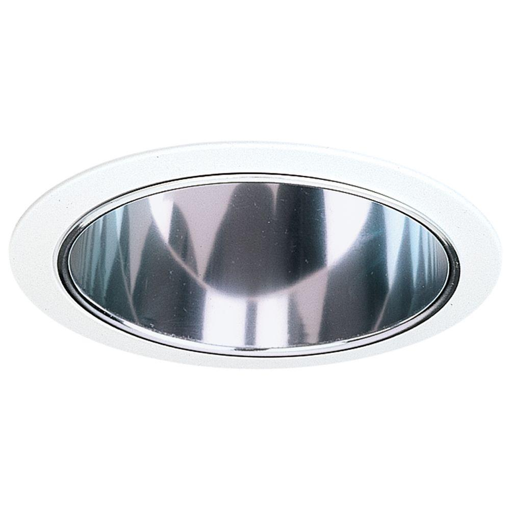 NICOR 6 in. Clear Recessed Specular Reflector Cone with White Trim