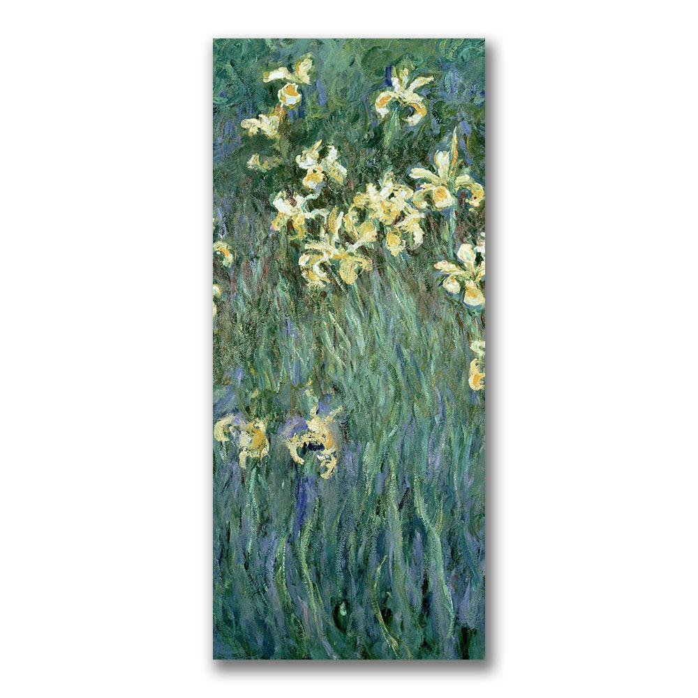 12 in. x 24 in. The Yellow Irises Canvas Art