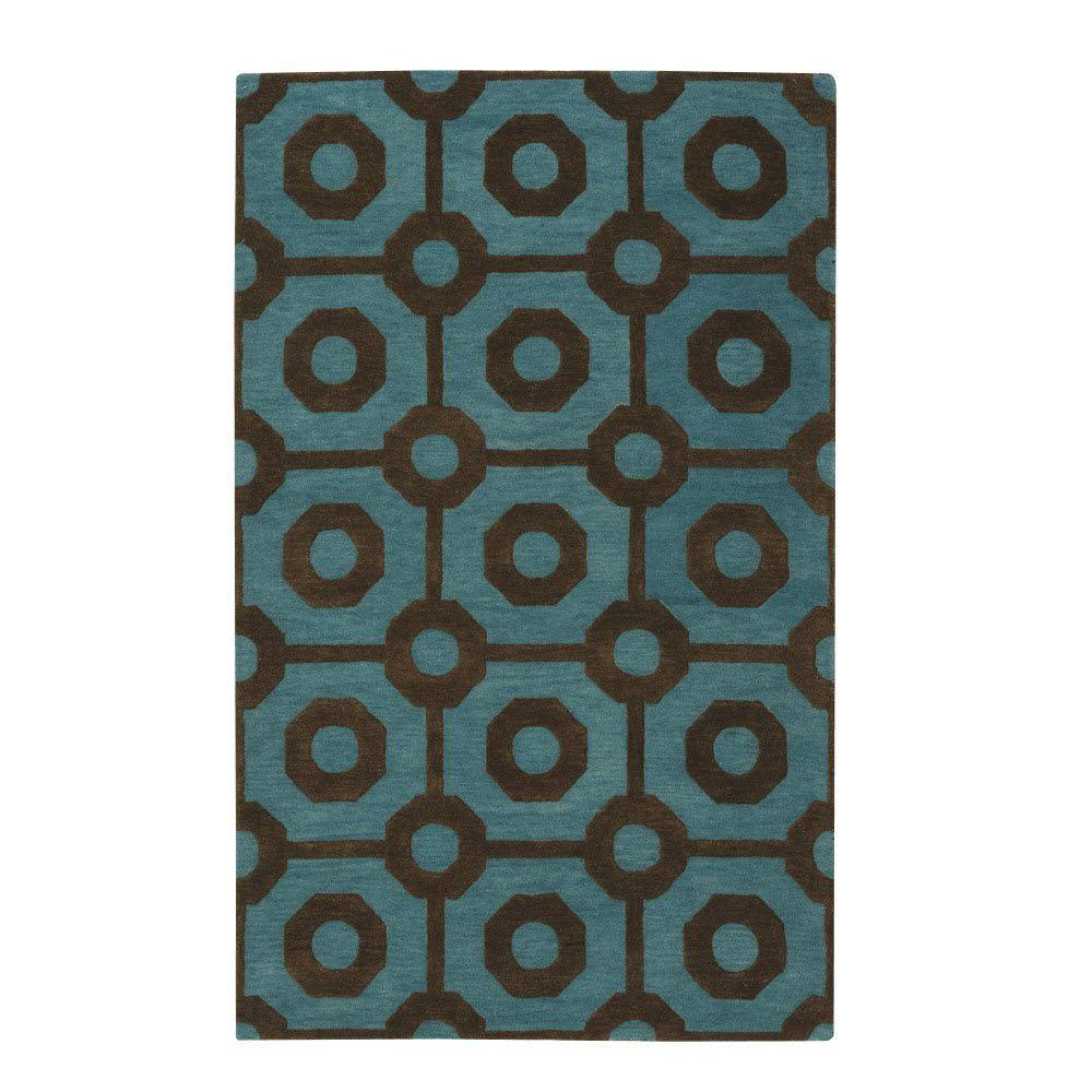 Home Decorators Collection Crystal Brown/Green 5 ft. 3 in. x 8 ft. 3 in. Area Rug