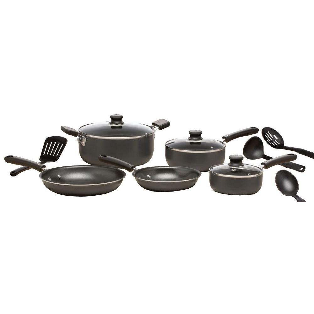 WearEver 12-Piece Cookware Set in Gray-C957SC74 - The Home Depot