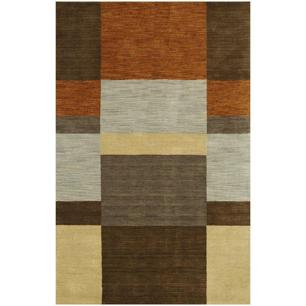 BASHIAN Contempo Collection Color Blocks Multi 7 ft. 6 in. x 9 ft. 6 in. Area Rug