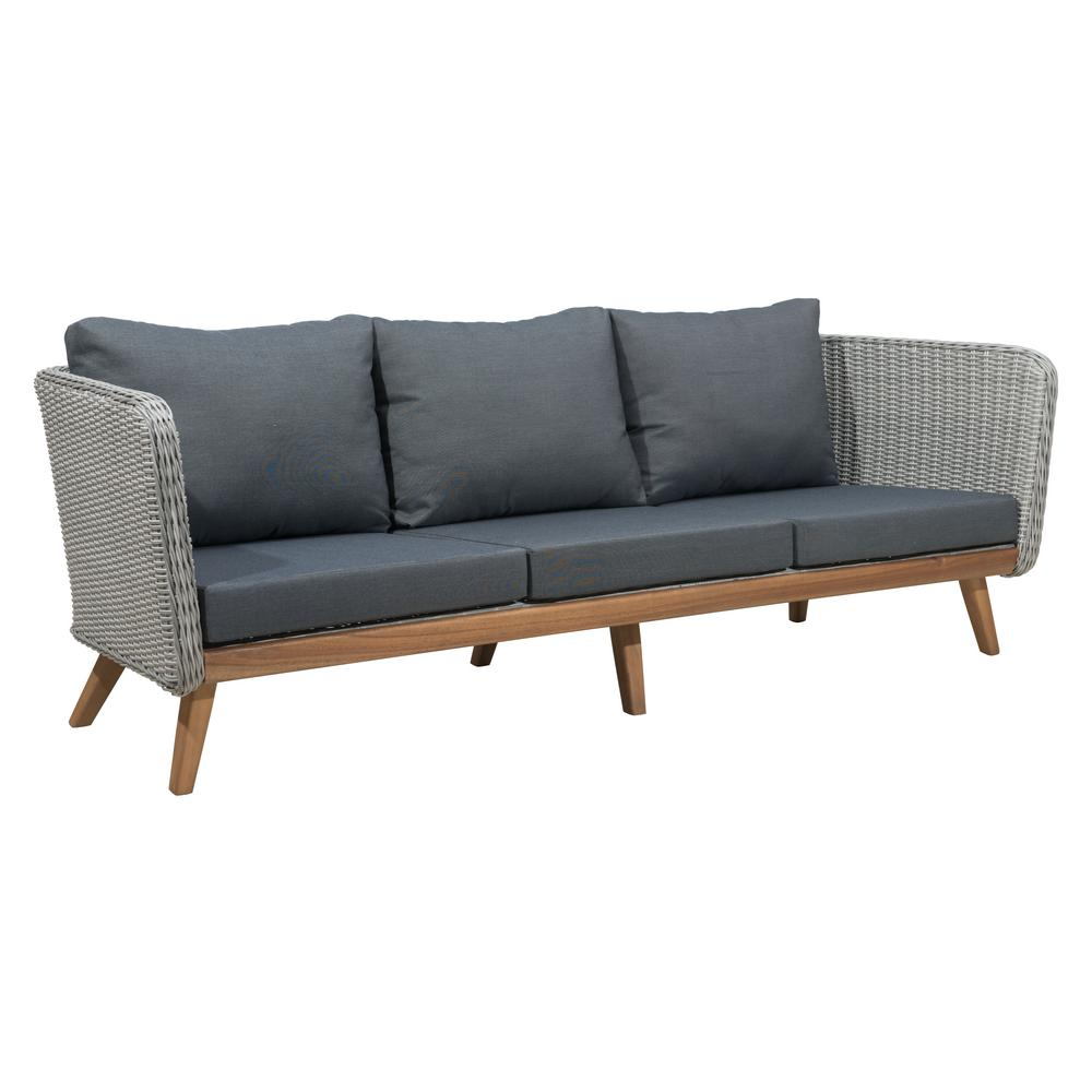 ZUO Grace Bay Patio Sofa in Natural and Gray-703749 - The