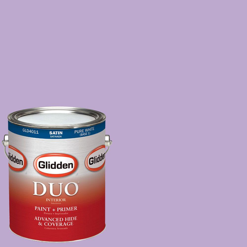 Glidden DUO 1-gal. #HDGV55 Sugared Plum Satin Latex Interior Paint with Primer