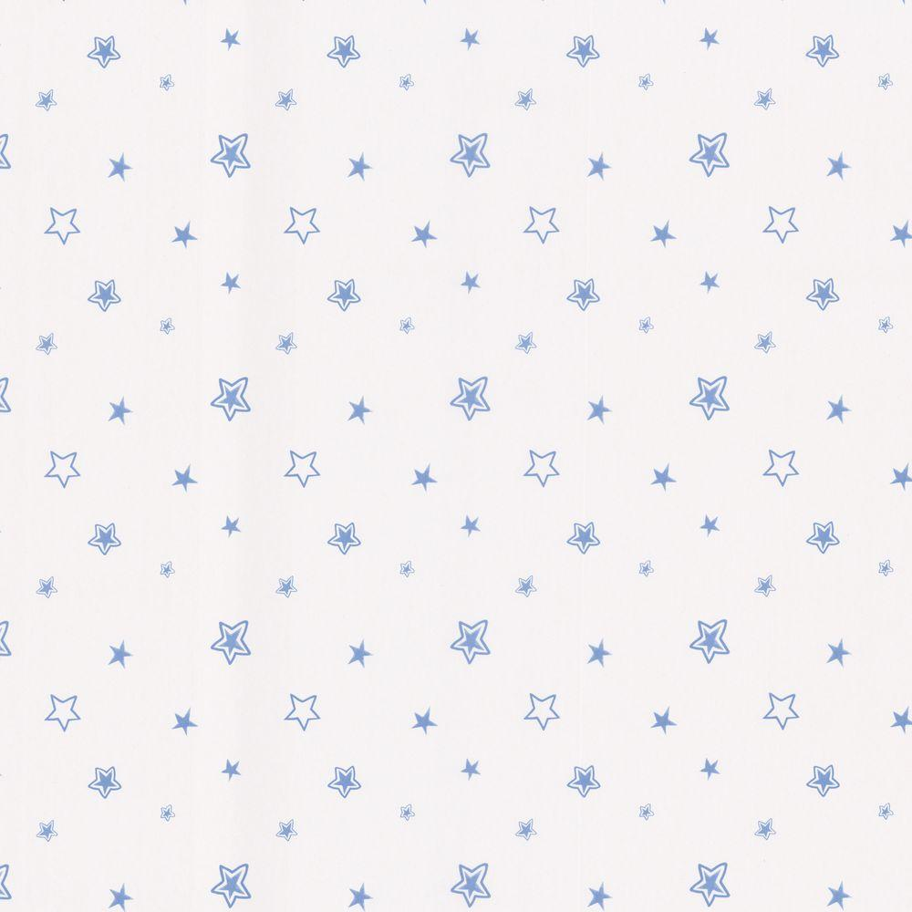 56 sq. ft. Merlin Light Blue Stars Wallpaper, Multicolor
