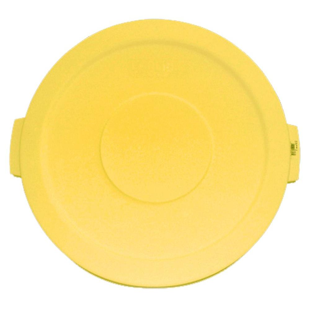 Bronco 10 Gal. Yellow Round Trash Can Lid (6-Pack)