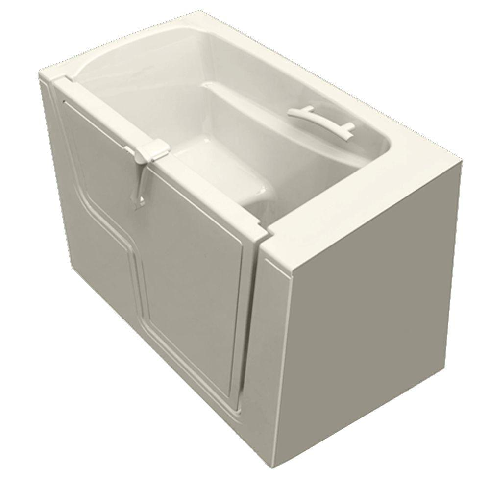 American Standard 4.33 ft. Walk-In Whirlpool and Air Bath Tub with Outward Opening Door in Linen
