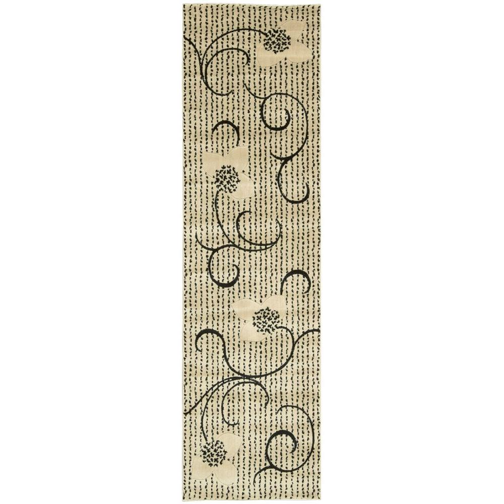 Expressions Ivory 2 ft. x 5 ft. 9 in. Rug Runner