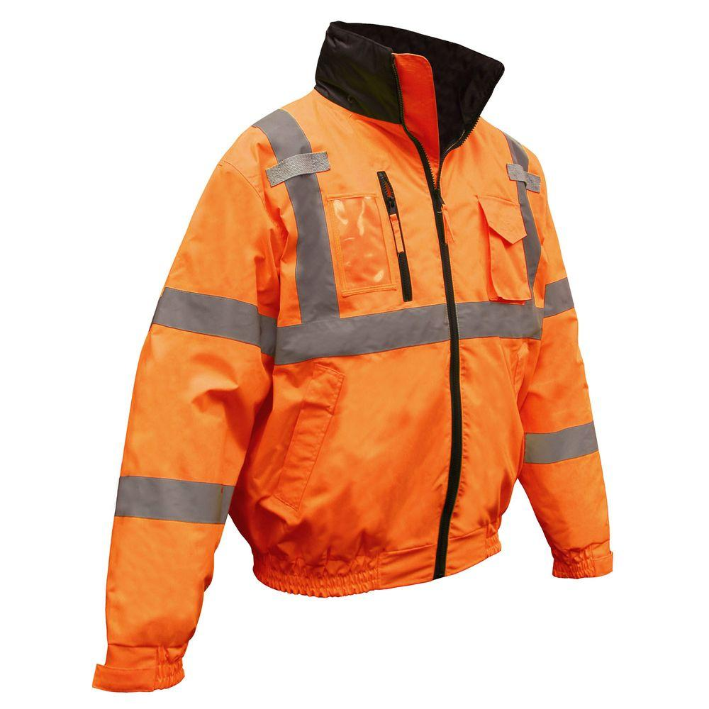 Radians Class 3 Deluxe Bomber Jacket Orange 3X-DISCONTINUED