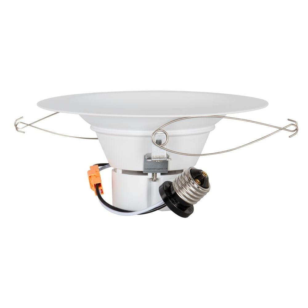 Luminance 5 in./6 in. White Indoor Dimmable Retrofit Downlight-F9901-30-1 - The