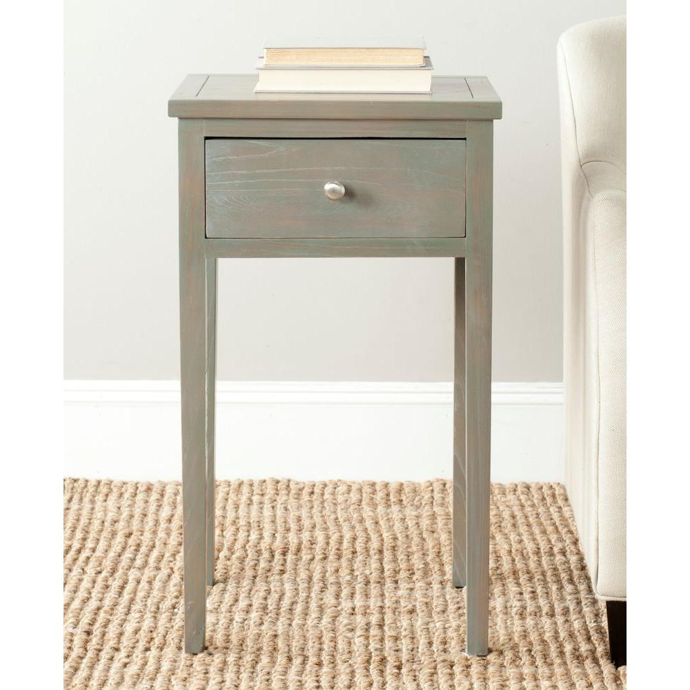 Abel Ash Grey Storage End Table