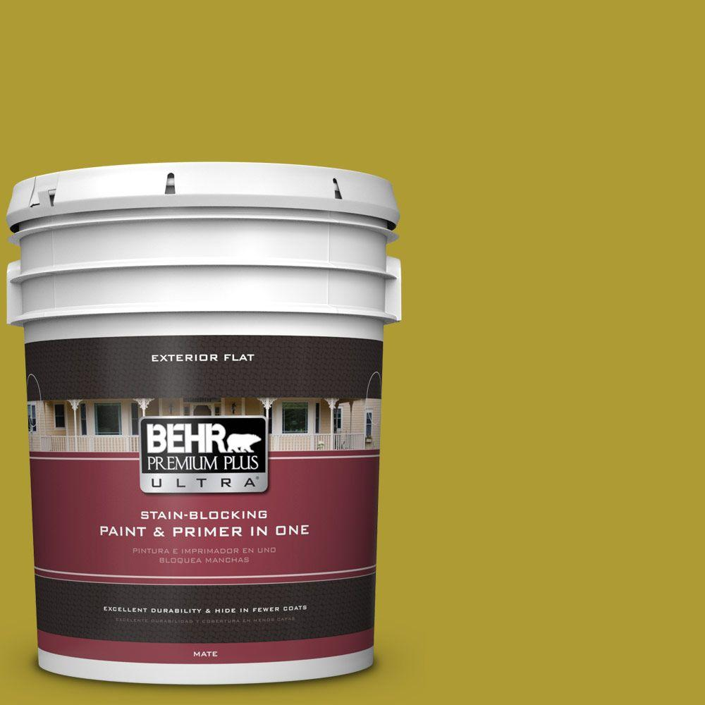 5-gal. #P330-7 Luscious Lime Flat Exterior Paint