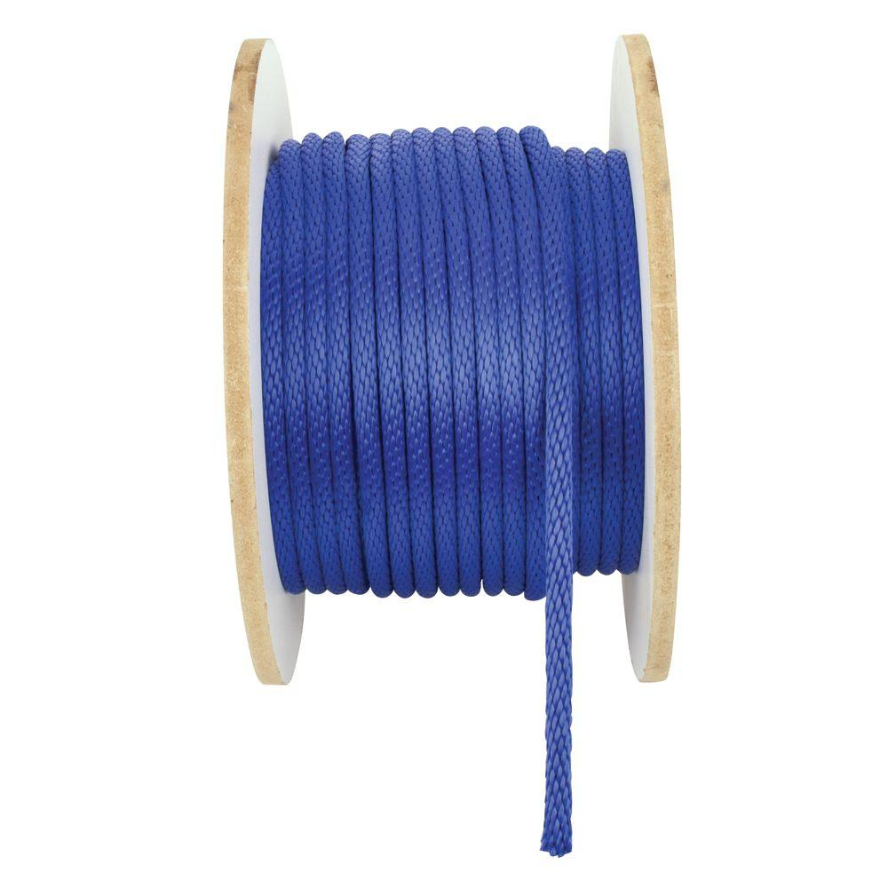 1/2 in. x 250 ft. Solid Braid Polypropylene Rope in Blue