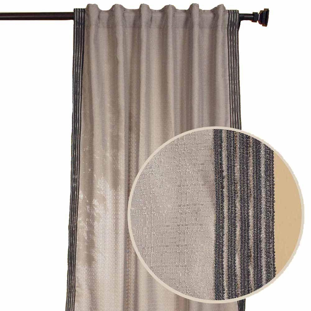 Home Decorators Collection Malti Smoke Back Tab Curtain-DISCONTINUED