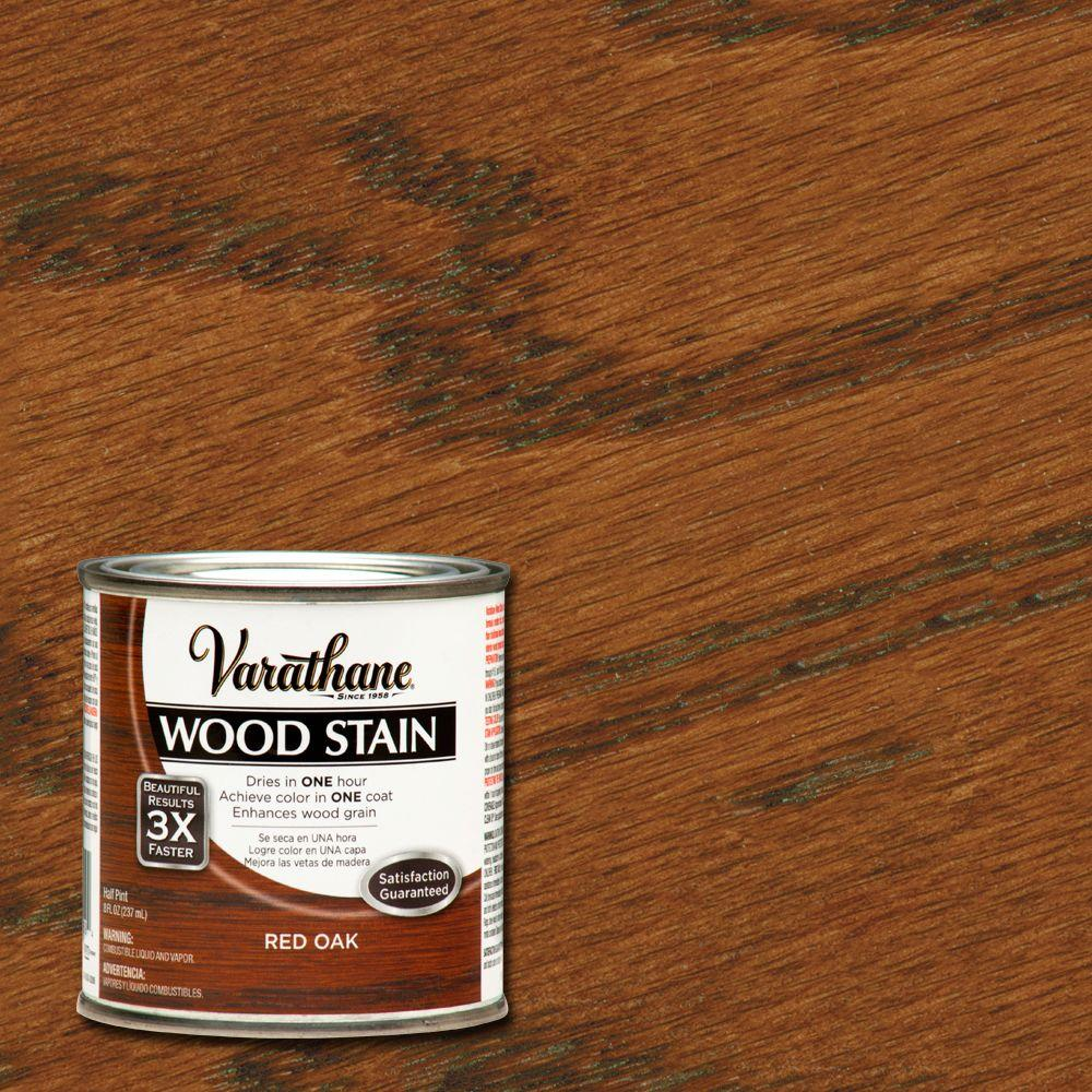 Varathane 1/2 pt. Red Oak Wood Stain-266269 - The Home Depot