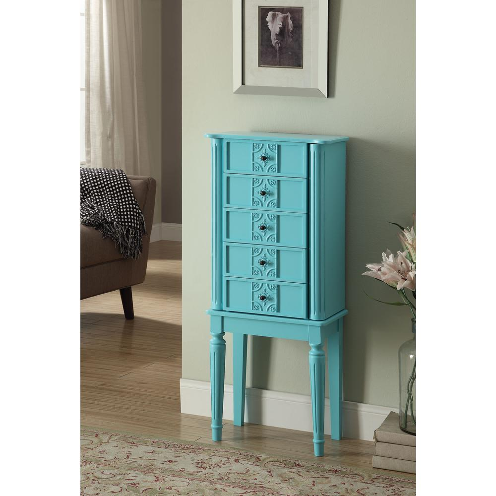 Tammy Light Blue Jewelry Armoire