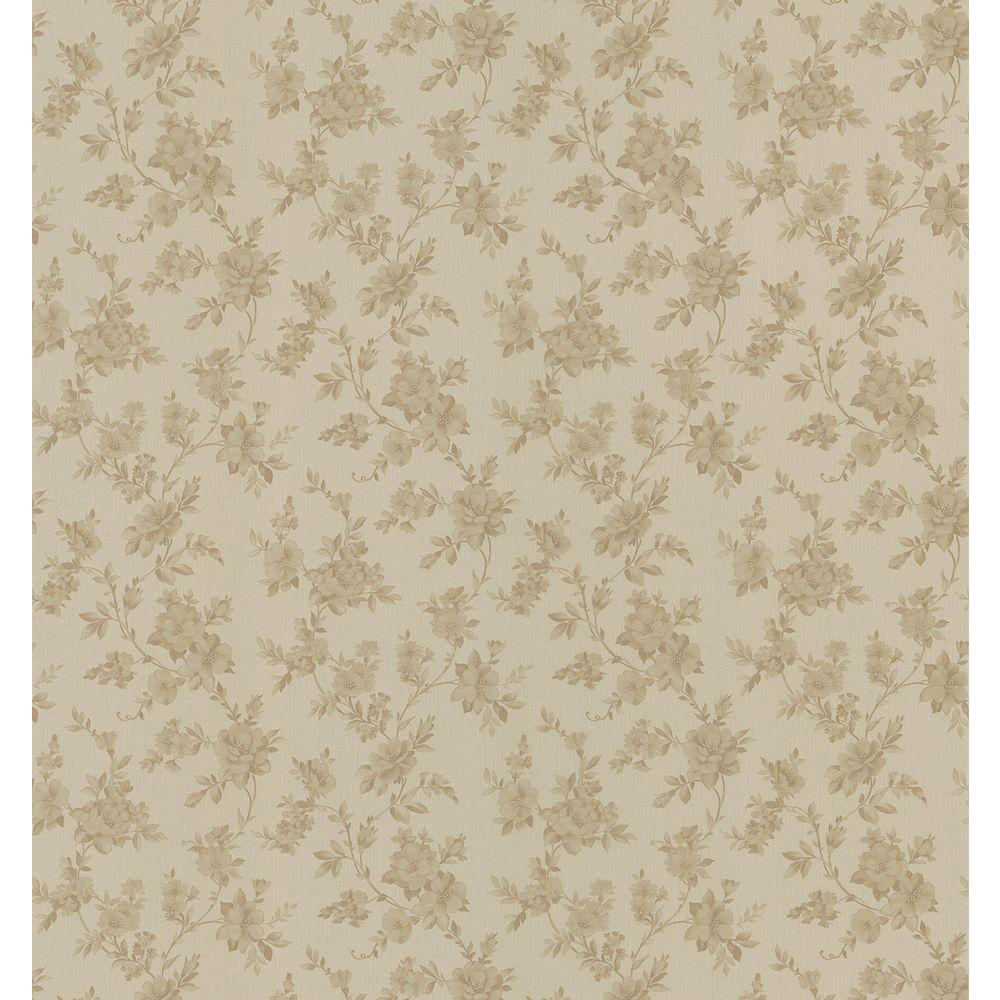 Brewster 56 sq. ft. Floral Trail Wallpaper-979-62714 - The Home Depot