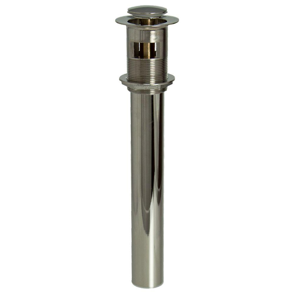 2-1/2 in. Threaded EZ-Click Lavatory Grid Drain with Overflow in Polished