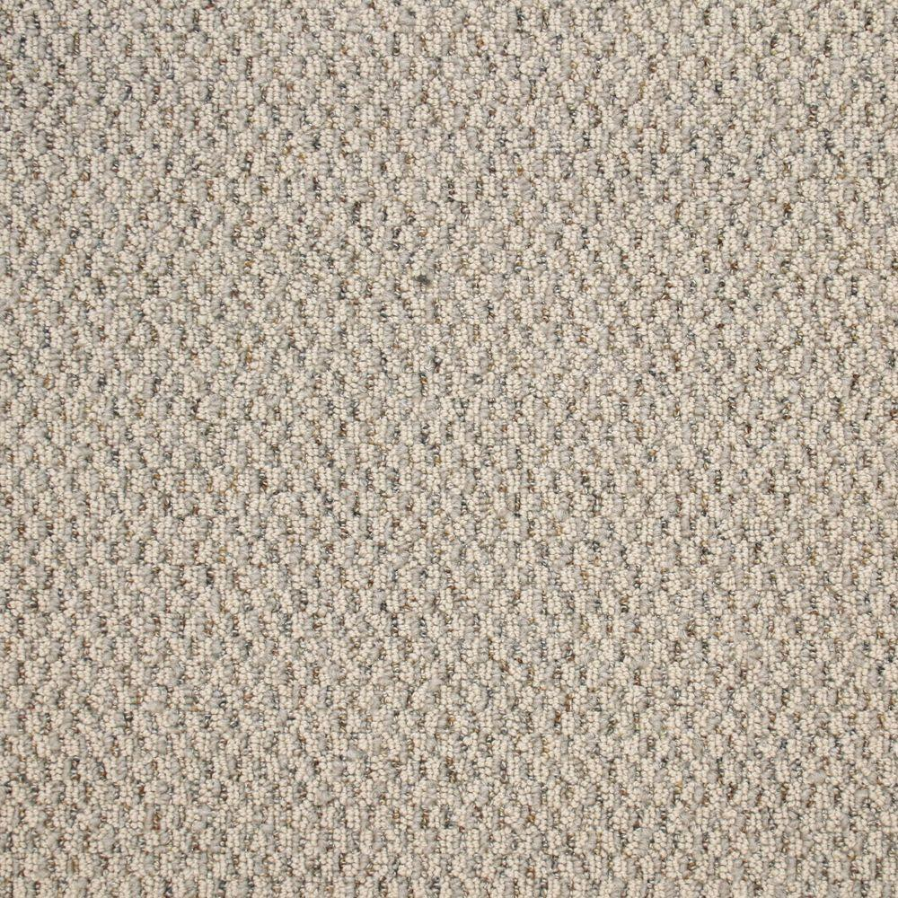TrafficMASTER Big Picture - Color Snow Leopard Textured Berber 12 ft. Carpet