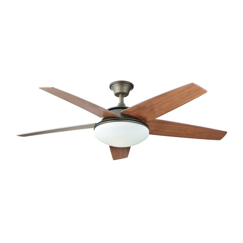Home Decorators Collection Piccadilly 52 In Led Indoor Espresso Bronze Ceiling Fan With Light