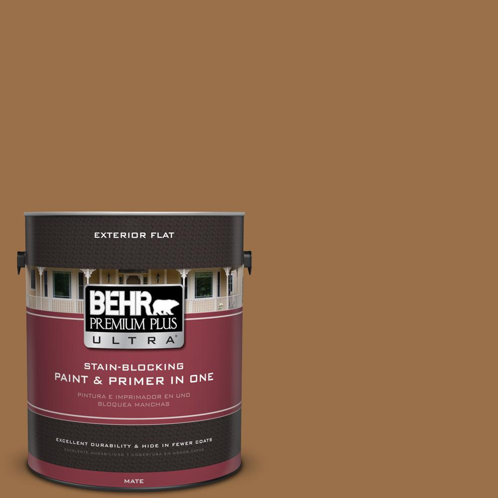 1 gal. #UL150-17 Olympic Bronze Flat Exterior Paint