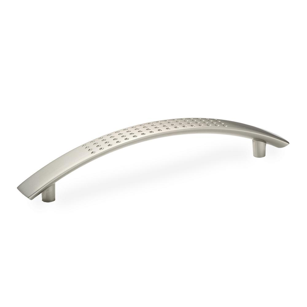 Contemporary and Modern 5 in. Brushed Nickel Pull