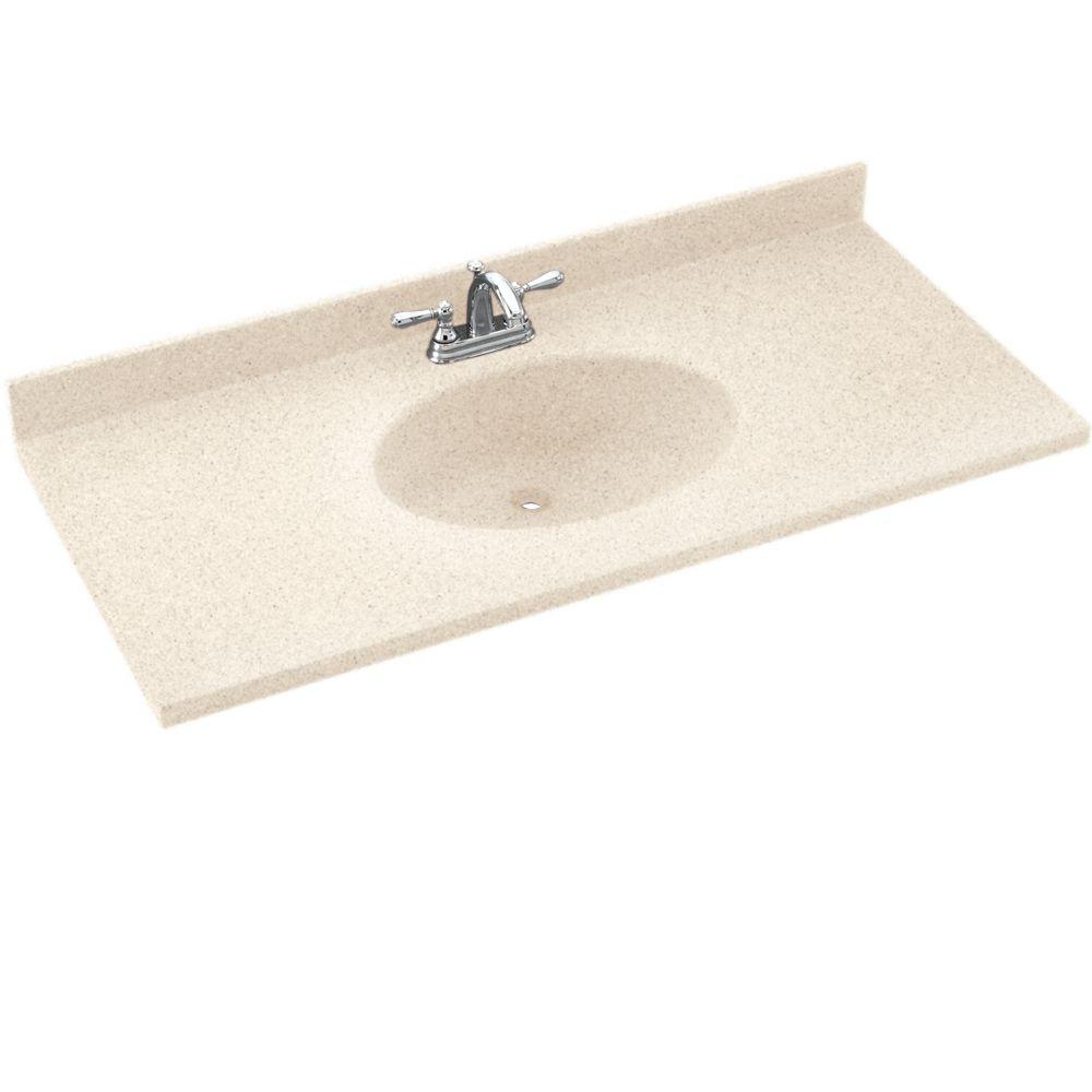 Swanstone Chesapeake 43 in. Solid Surface Vanity Top with Basin in Night Sky-DISCONTINUED