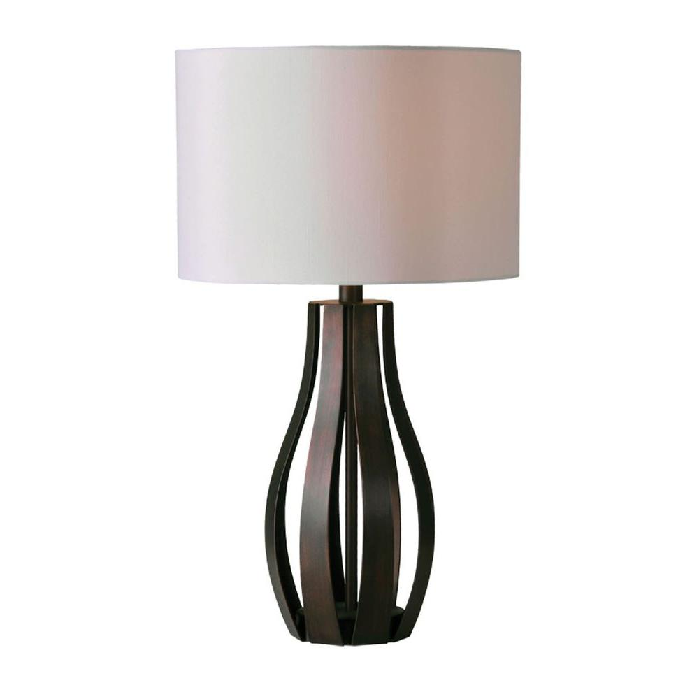 Luna 24 in. Rich Brown Incandescent Table Lamp