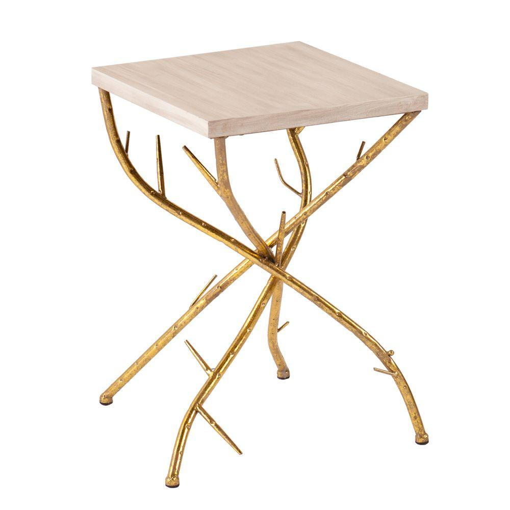 Southern Enterprises Gulliver Metallic Gold End Table