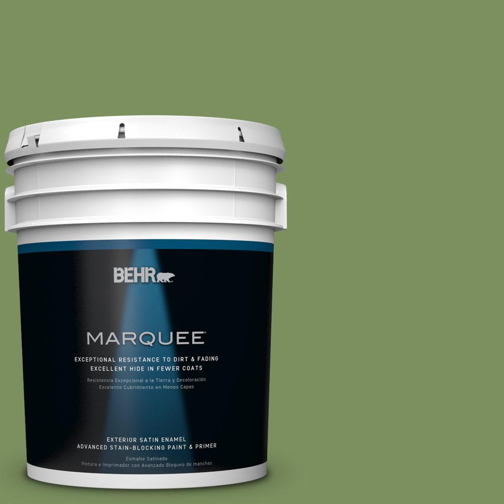 BEHR MARQUEE 5-gal. #PPU10-3 Green Energy Satin Enamel Exterior Paint