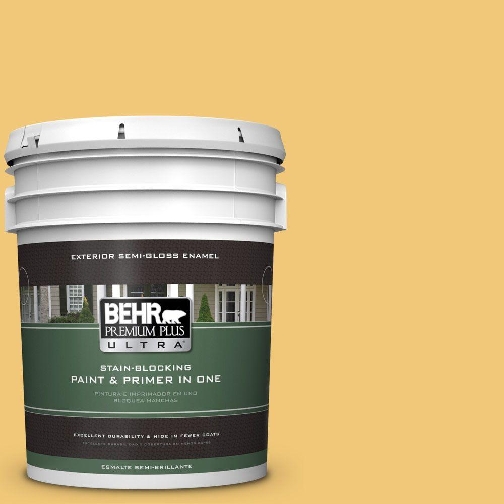 BEHR Premium Plus Ultra 5-gal. #T14-19 Sunday Afternoon Semi-Gloss Enamel Exterior Paint