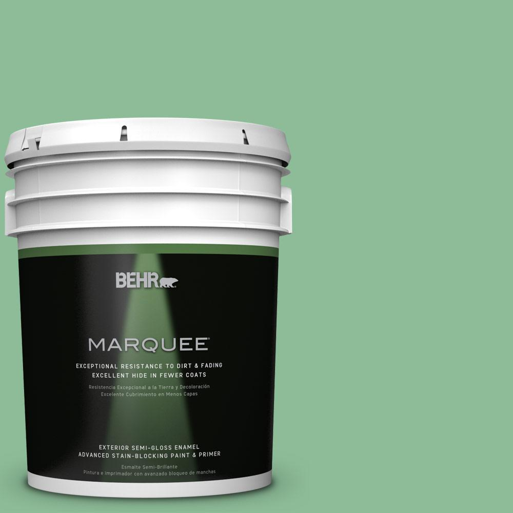 BEHR MARQUEE 5-gal. #M410-4 Garden Swing Semi-Gloss Enamel Exterior Paint