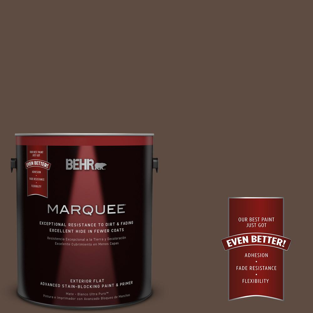 BEHR MARQUEE 1-gal. #UL130-2 Roasted Nuts Flat Exterior Paint