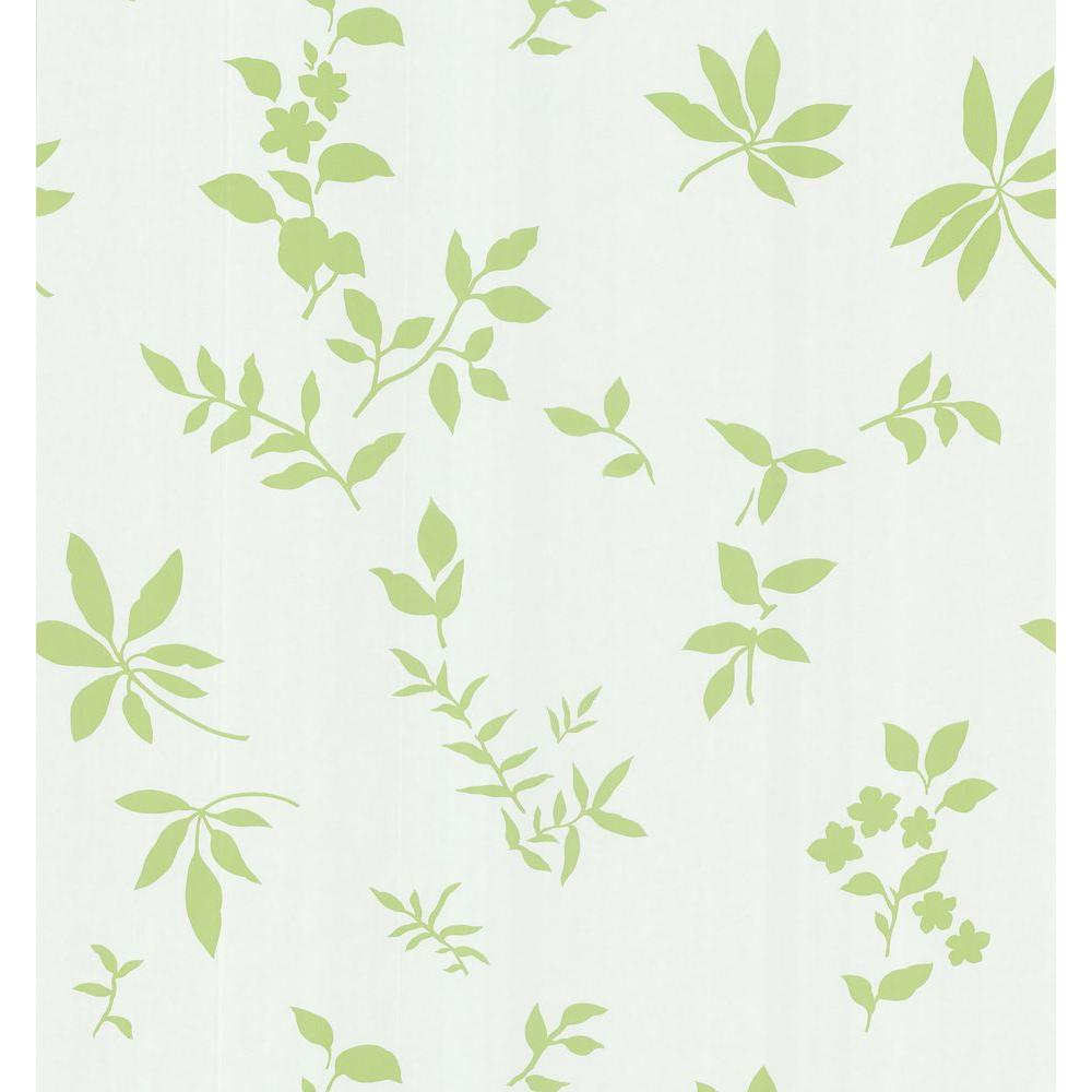 Brewster 8 in. W x 10 in. H Silhouette Leaves And Flowers Wallpaper Sample-DISCONTINUED